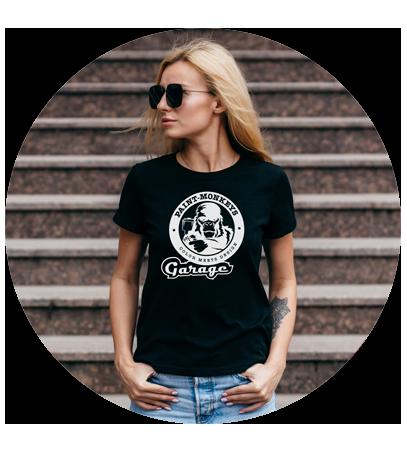 Damen / Style-T-Shirt / Schwarz