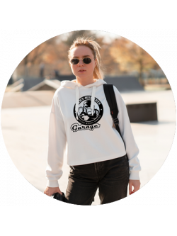 Girls / Feel-good hoodie / White